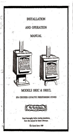 earth stove model 101 manual