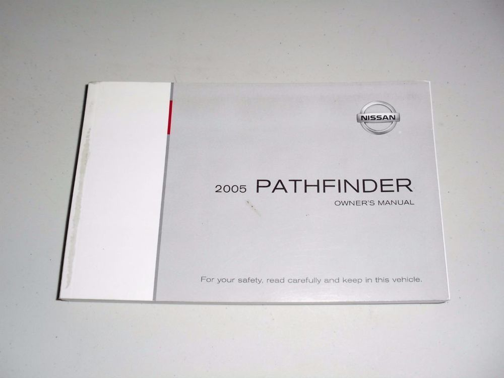 2005 nissan pathfinder manual pdf